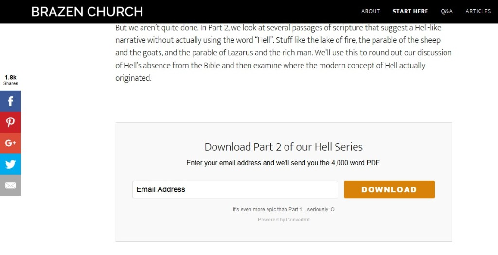 ConvertKit Email Download