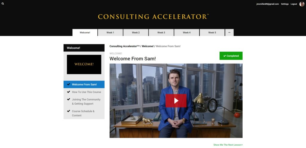 In depth review of sam ovens consulting accelerator read before heres what you see when you enter the paid area malvernweather Images