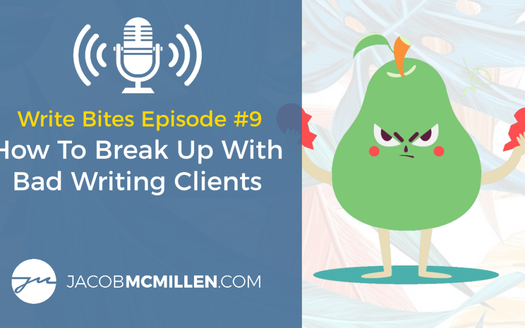 Write Bites Episode #9: How To Break Up With A Client