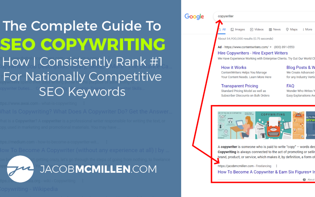 SEO Copywriting Guide: How I Consistently Rank #1 For Nationally Competitive Keyphrases